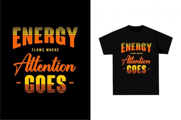Citações de tipografia de saúde - t-shirt gráfica para impressão Vetor Premium