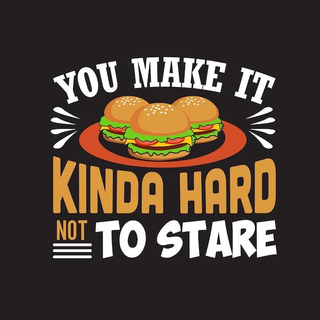Citações do hamburguer Vetor Premium