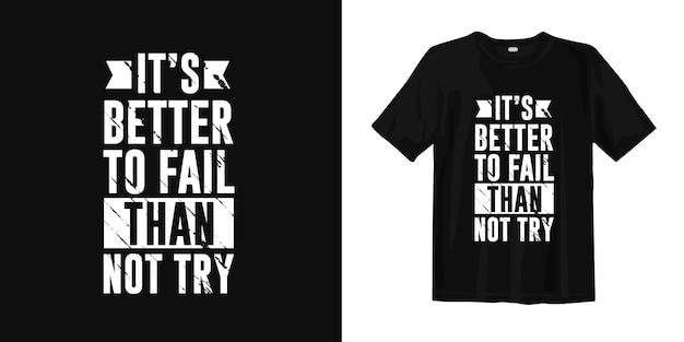 Citações inspiradas e motivacionais de tipografia de design de camiseta Vetor Premium