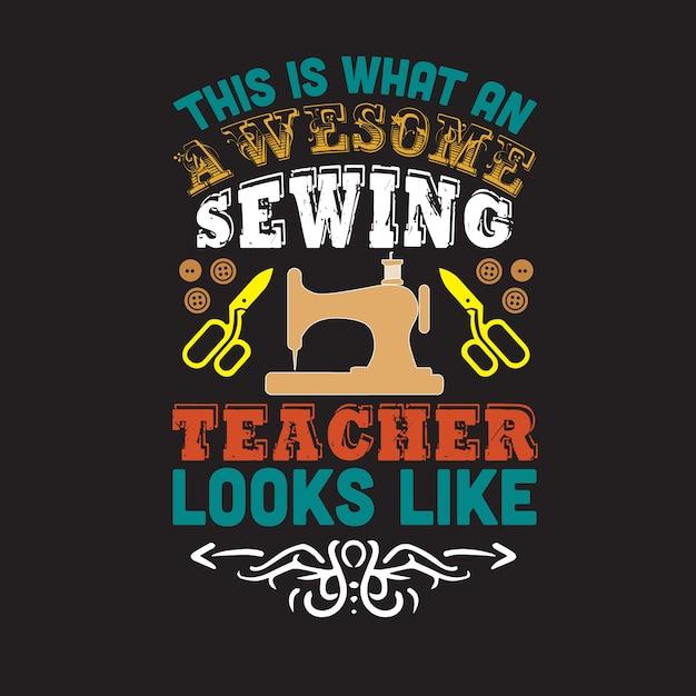 Citar e dizer sobre costura isto é o que um professor incrível parece Vetor Premium