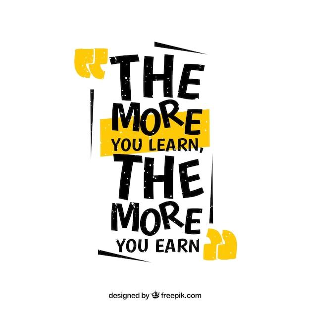 Citar fundo com mensagem motivadora Vetor grátis