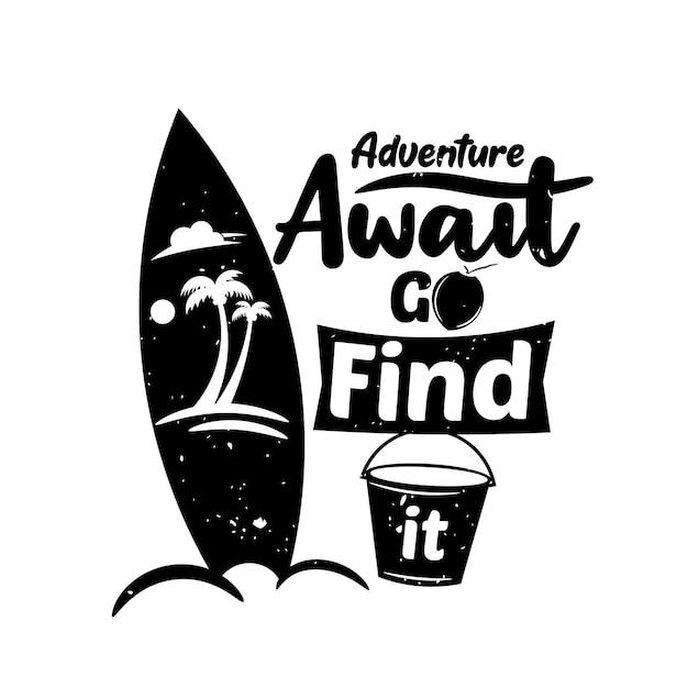 Cite sobre aventura e jornada Vetor Premium