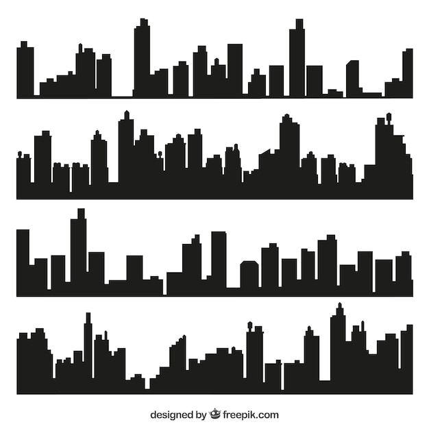 City skylines Vetor grátis