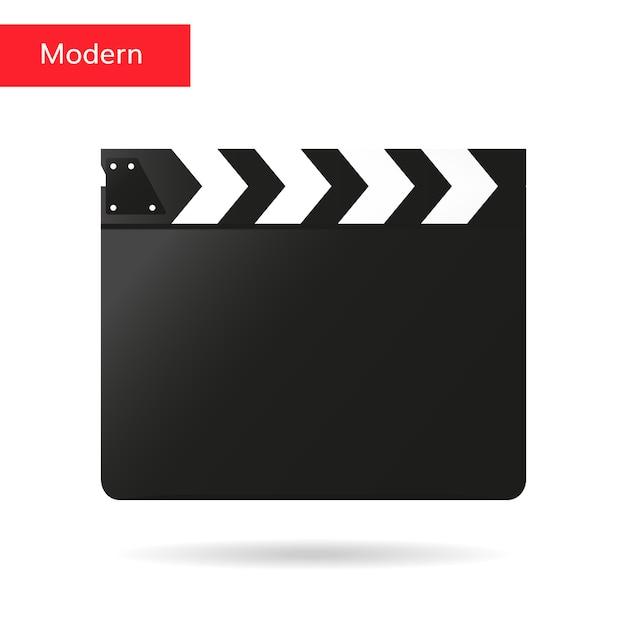 Clapper badalo de vetor de placa de filme Vetor Premium