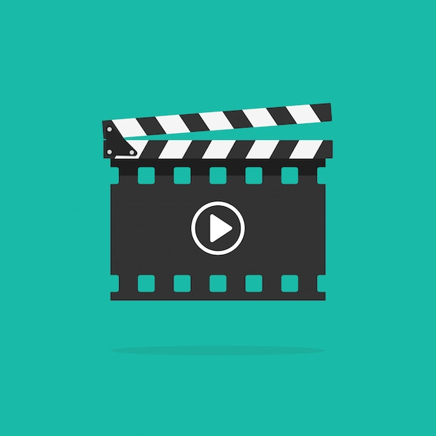 Claquete isolado com película de filme Vetor Premium