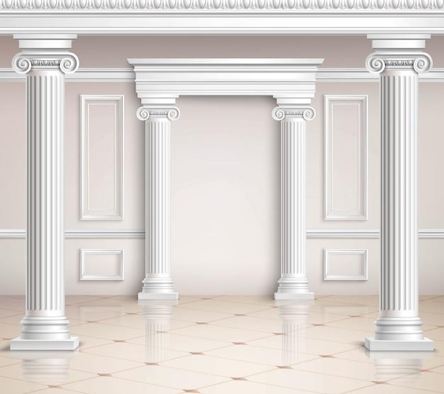 Classic hall design Vetor grátis