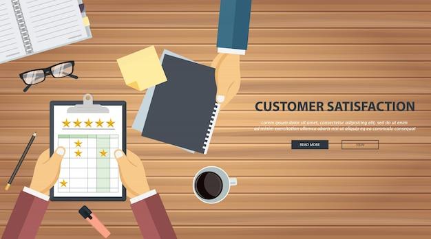 Classificação na ilustração de serviço ao cliente Vetor Premium