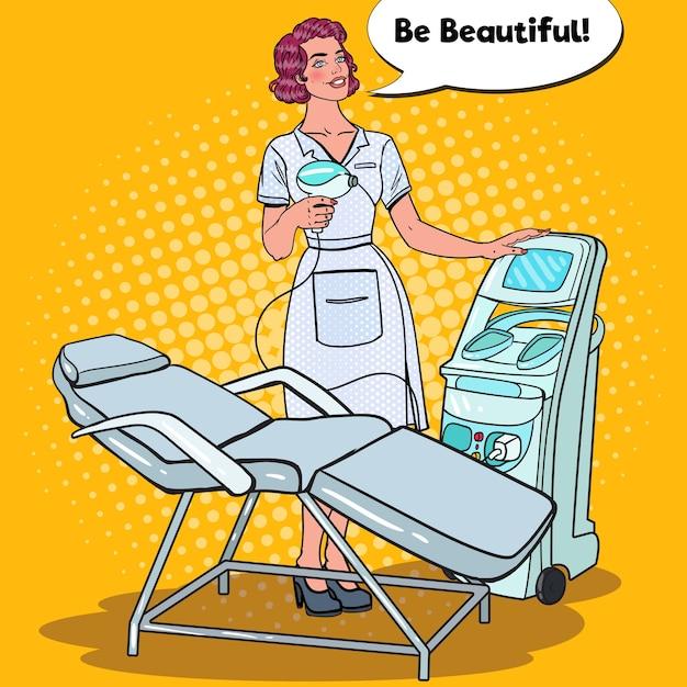 Clínica de beleza profissional para tratamento de pele Vetor Premium