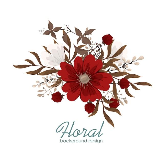 Clipart flor vermelho flores Vetor grátis