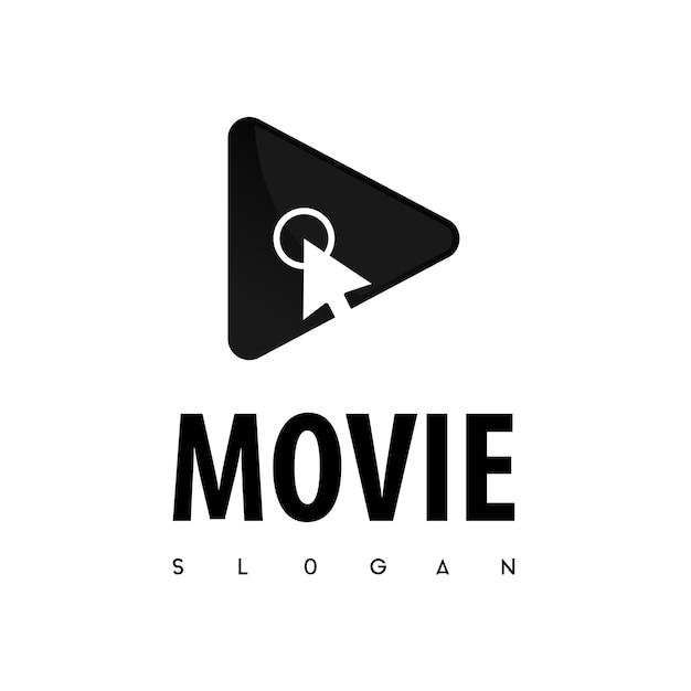 Clique em filme logo vector Vetor Premium