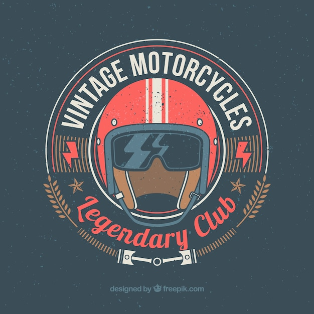 Clube da motocicleta do vintage Vetor grátis