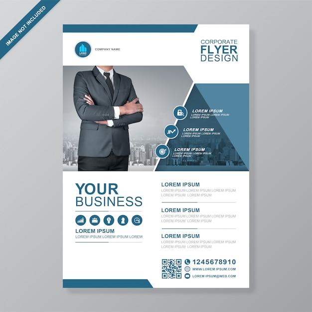 Cobertura de negócios corporativos a4 modelo de design de folheto Vetor Premium