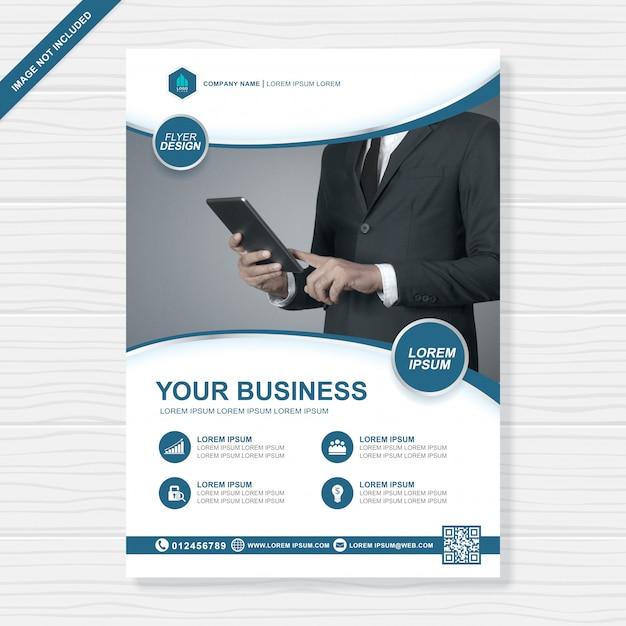 Cobertura de negócios Vetor Premium