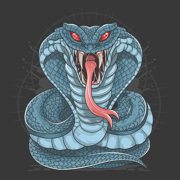 Cobra snake wild beast vector Vetor Premium