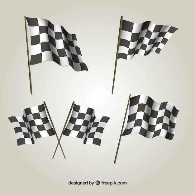 Cobrança, de, checkered, bandeiras Vetor grátis