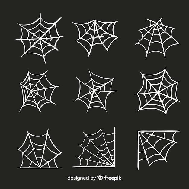 Cobrança, de, dia das bruxas, teia de aranha Vetor grátis