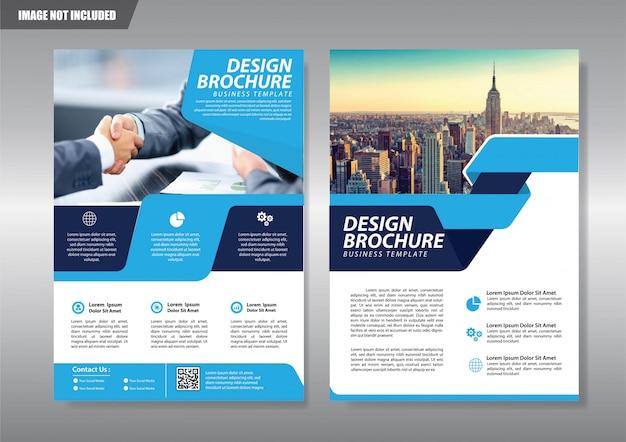 Cobrir folheto panfleto ou livreto fundo relatório anual Vetor Premium