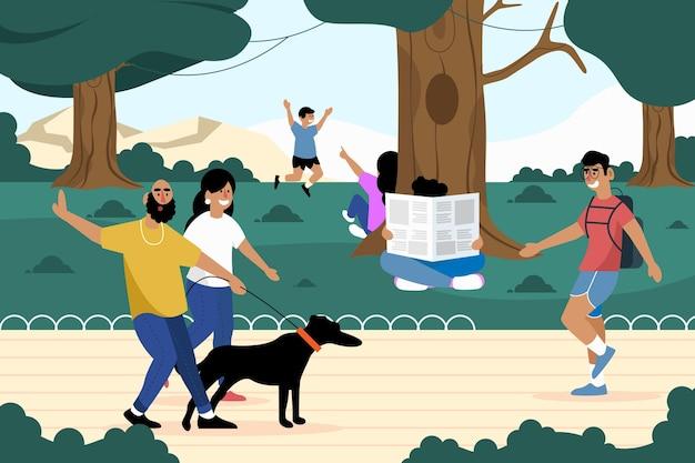Cocept de atividades ao ar livre Vetor grátis