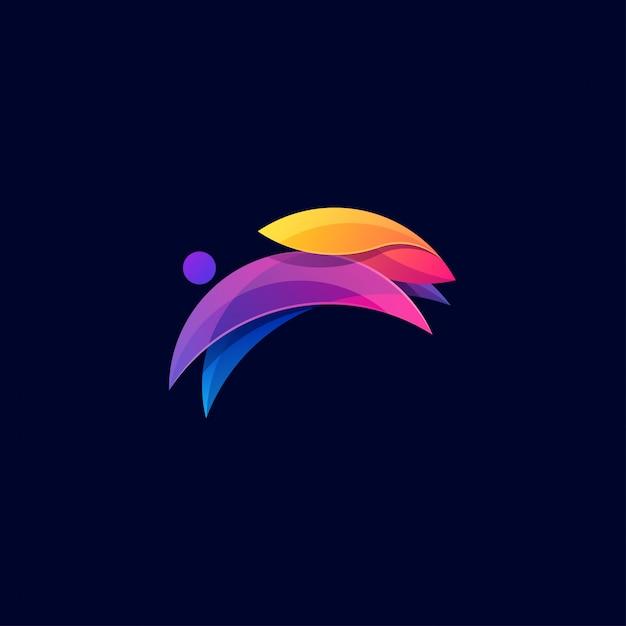 Coelho design colorido. Vetor Premium