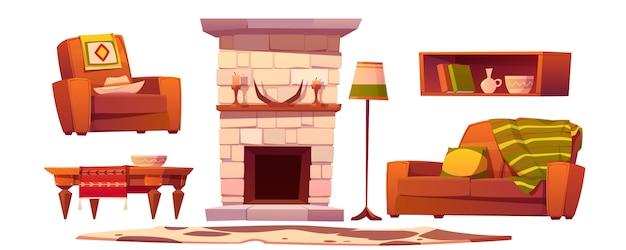 Coisas da sala de estar do oeste selvagem. estilo rústico ocidental Vetor grátis