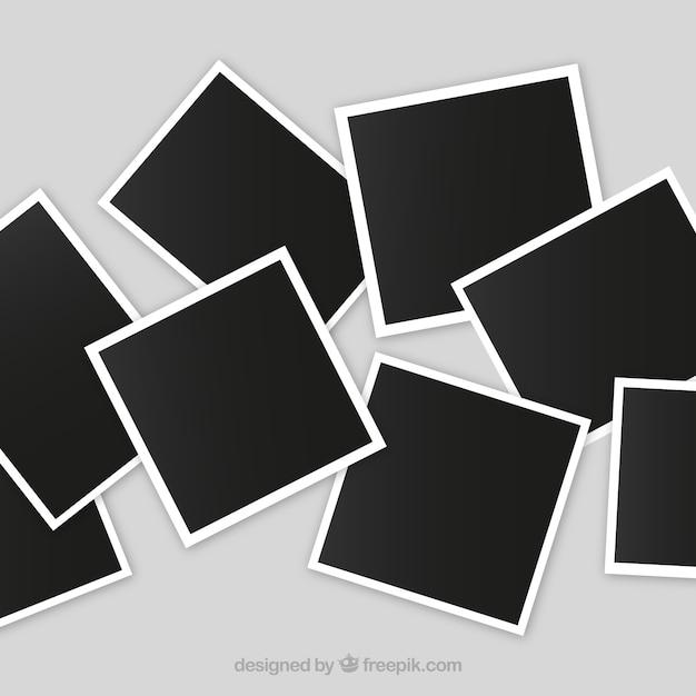 Colagem de moldura de foto desarrumada Vetor Premium
