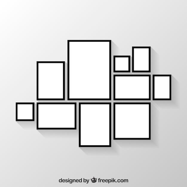 Colagem de moldura de foto plana Vetor grátis