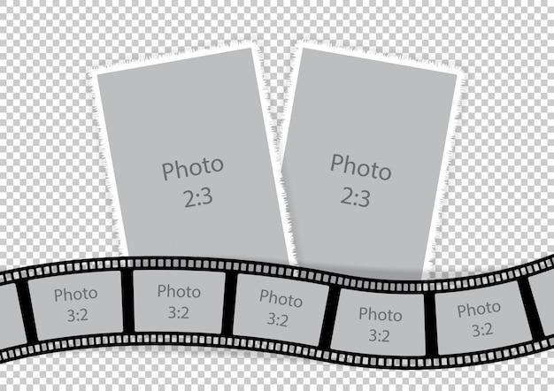 Colagem de molduras de idéias de modelos de filme Vetor Premium