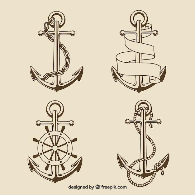 Coleção anchors Vetor grátis