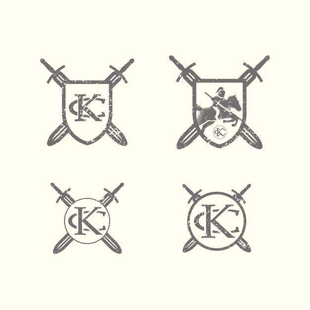 Coleção brasão de armas Vetor grátis