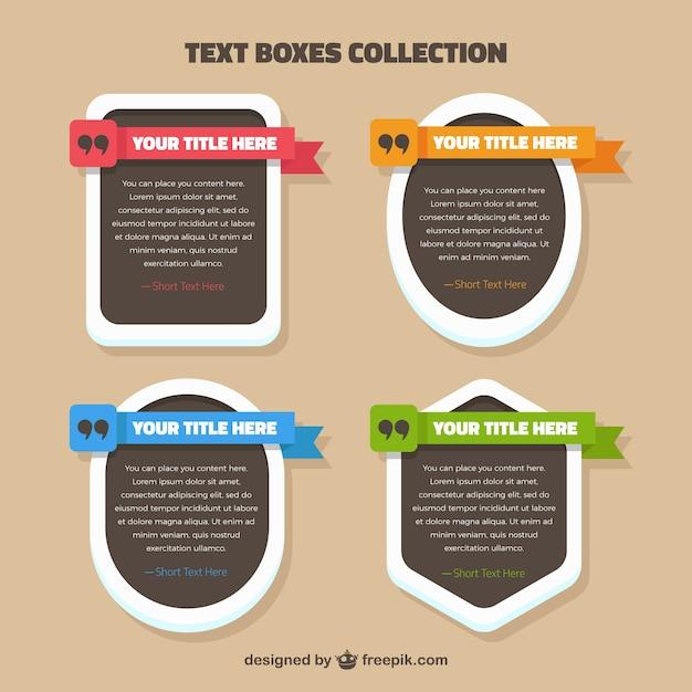 Coleção caixas de texto Vetor grátis
