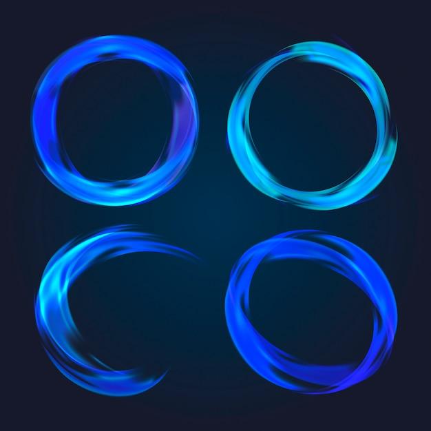 Coleção circular abstrata Vetor grátis