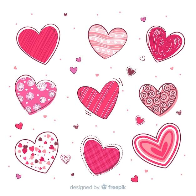 Coleção coração Vetor grátis