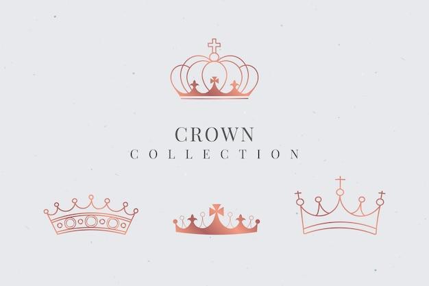 Coleção coroa real Vetor grátis