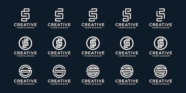 Coleção criativa do logotipo do monograma s. Vetor Premium