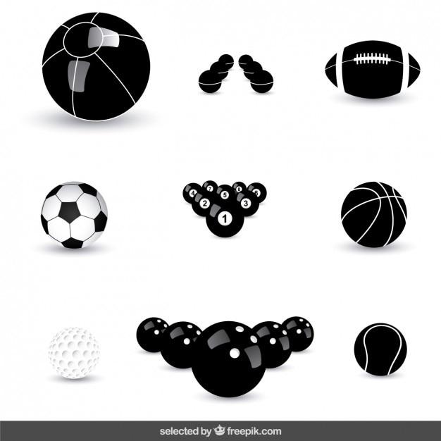 Coleção das esferas ícones Vetor grátis