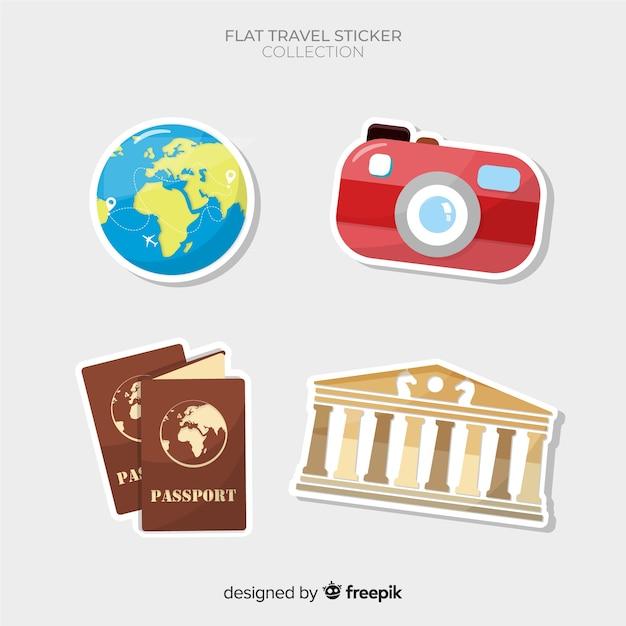Coleção de adesivos de viagem Vetor grátis