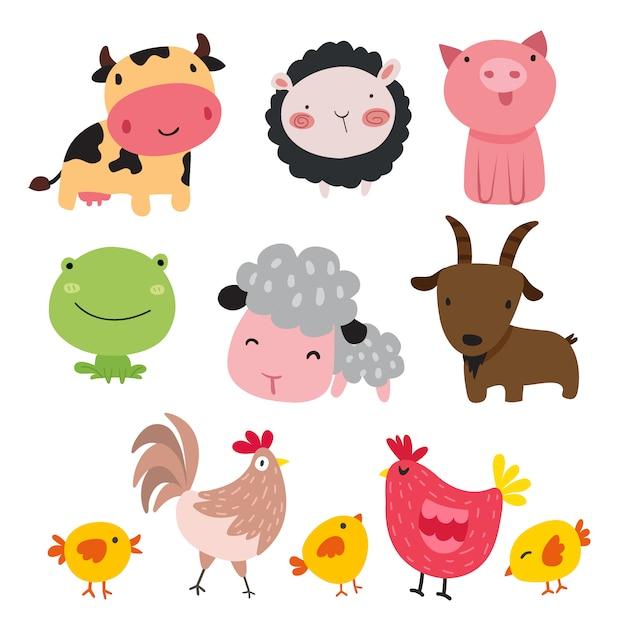 Cole 231 227 O De Animais De Fazenda Baixar Vetores Gr 225 Tis