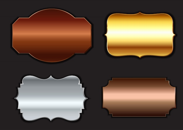 Coleção de armações metálicas Vetor grátis