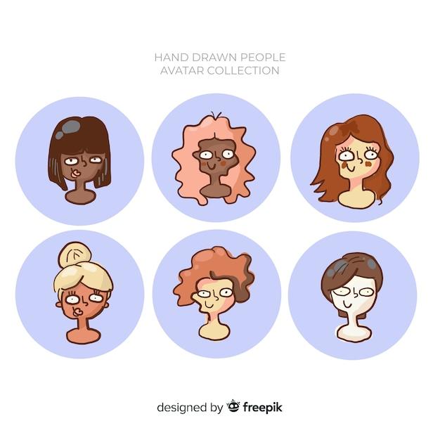 Coleção de avatar de pessoas Vetor grátis