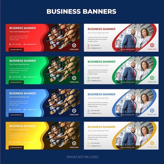 Coleção de banner de negócios corporativos modernos Vetor Premium