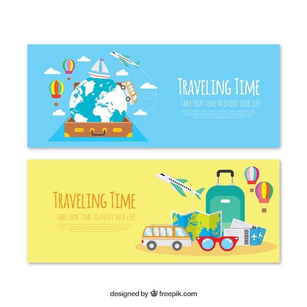 Coleção de banner de viagem Vetor grátis