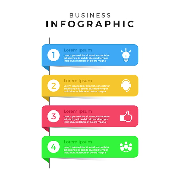 Coleção de banners infográficos Vetor grátis