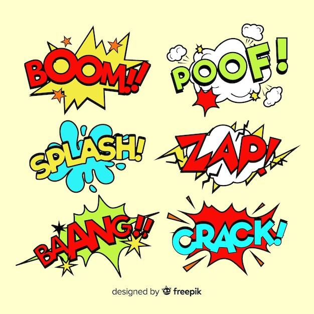 Coleção de bolhas do discurso em quadrinhos coloridos Vetor grátis