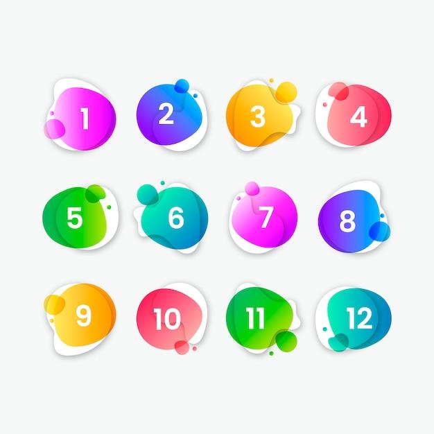 Coleção de botão colorido abstrato Vetor grátis