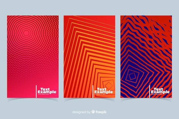 Coleção de brochura de linhas geométricas coloridas Vetor grátis