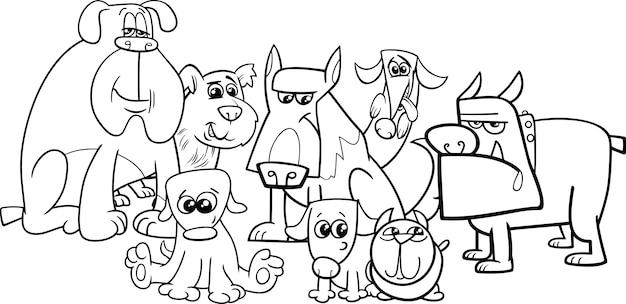 Coleção De Cachorros Para Colorir