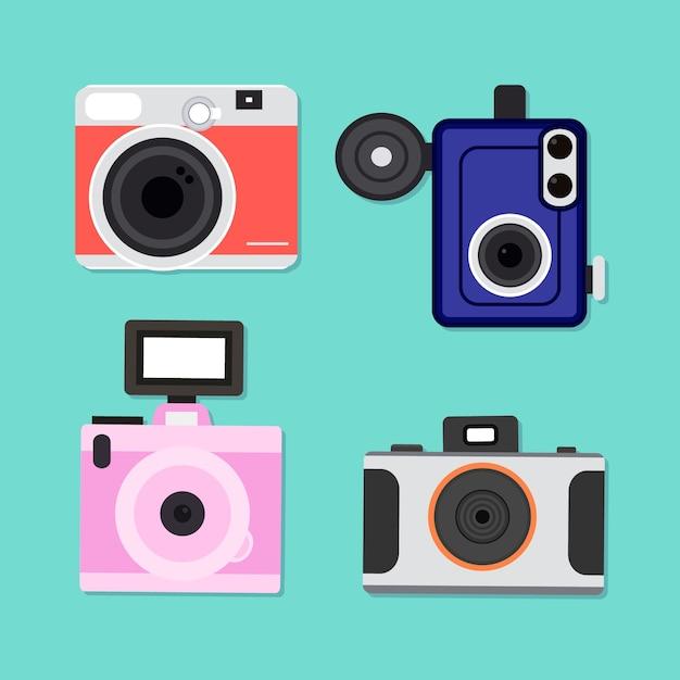 Cole o de c mera de design b sico baixar vetores gr tis for Camera blueprint maker gratuito