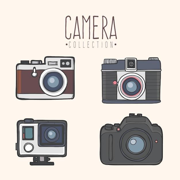Coleção de câmera moderna Vetor grátis