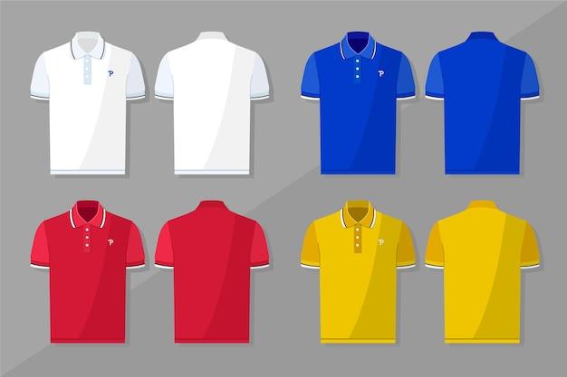 Coleção de camisa polo Vetor grátis