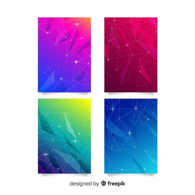 Coleção de capa colorida de tecnologia Vetor grátis